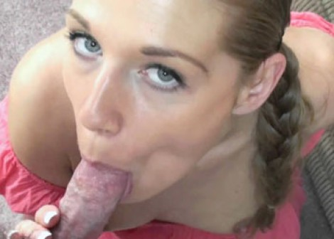 Lusty blonde Lina gets a a big facial