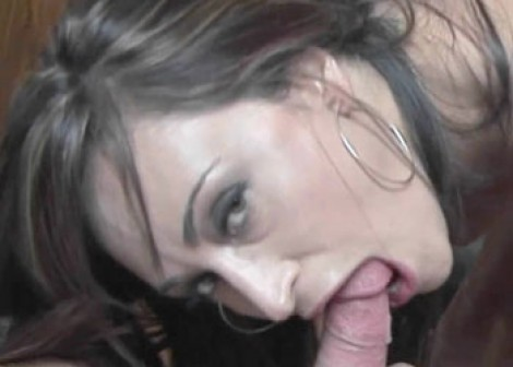 Buxom wife Claudia swallows a cock