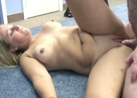 Liisa gets pounded on the floor